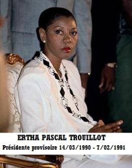 ERTHA PASCAL TROUILLOT Haiti's 1st Female President