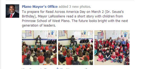 from the PLANO MAYOR'S OFFICE