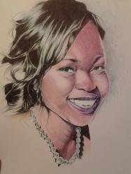 Ballpoint pen portrait