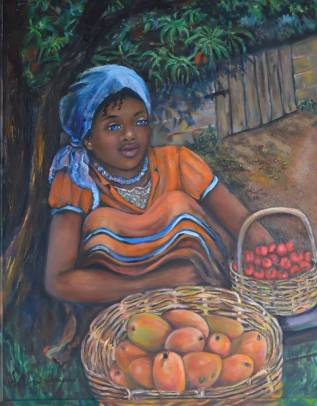 JUDITH SALOMON-DARUCAUD 04 Young girl selling mangoes & cherries