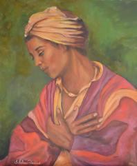 JUDITH SALOMON-DARUCAUD 23 YOUNG MAN MEDITATING