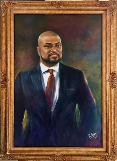 Portrait of Christophe - Oil on Canvas - 36 x 24