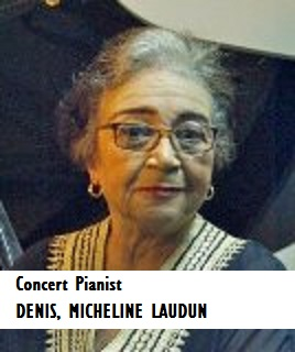 ENT-Concert Pianist DENIS, MICHELINE LAUDUN