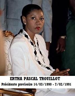 GOV-PRES TROUILLOT, ERTHA PASCAL