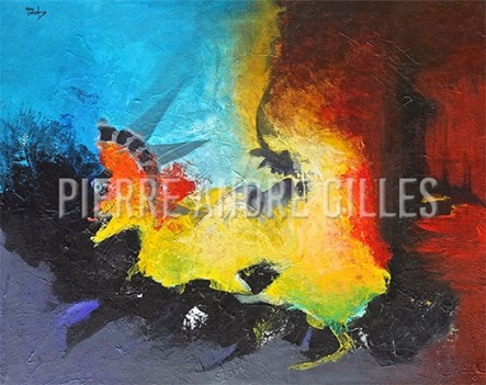 This work of art is the exclusive property of plastician PIERRE ANDRE GILLES All rights reserved.