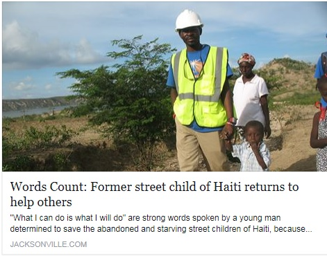 Former street child of Haiti returns to help others