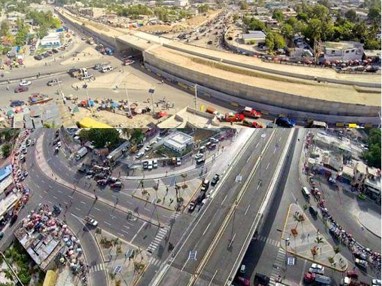 Cet échangeur à 8 voies a été financé par le Fonds PetroCaribe à hauteur de US $16,5 millions.