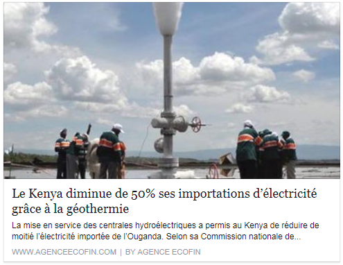La mise en service des centrales hydroélectriques a permis au Kenya de réduire de moitié l'électricité importée de l'Ouganda. Selon sa Commission nationale de régulation de l'énergie (ERC), le Kenya a importé 27,97 millions de KWh d'énergie de ses voisins cette année contre 57,91 millions de KWh, il y a une année à la même période. 95% de ces importations provenaient de l'Ouganda.