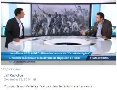 Pourquoi le mot Vertières n'est pas dans le dictionnaire français?