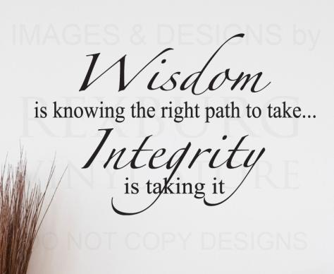 wisdom - integrity