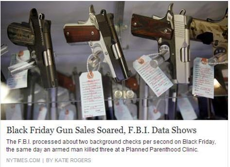The FBI agency ran a record 185,345 background checks on Friday, about 5 percent more than the amount processed through the National Instant Criminal Background Check System on that day in 2014, a figure that is seen as a strong indicator of how many guns were sold, The Associated Press reported.