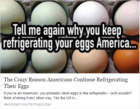 European egg marketing regulations state that storing eggs in cold storage and then leaving them out at room temperature could lead to condensation, which could promote the growth of bacteria on the shell that could probably get into the egg as well.... Read More: http://www.whydontyoutrythis.com/2015/09/heres-why-you-should-not-store-your-eggs-in-the-refrigerator.html
