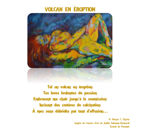 Volcan en Éruption