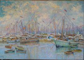 ERIC_GIRAULT-MARINES_Sunday at the Port