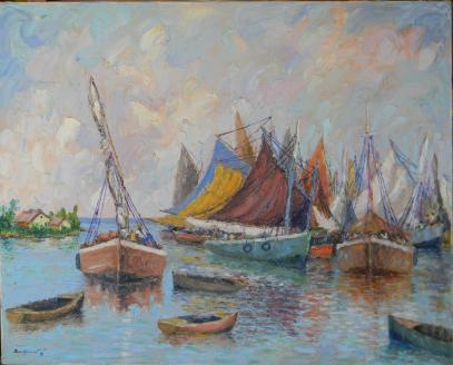 ERIC_GIRAULT-MARINES_Voiles au Port
